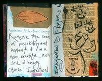 Die verrückte Klugheits-handgemachte Collage Art Journal ABSICHT Künstlers lizenzfreie abbildung