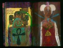 Die verrückte Klugheits-handgemachte Collage Art Journal IMPERMANANCE-Künstlers vektor abbildung