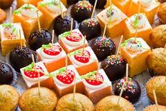 Die verschiedenen Kuchen Lizenzfreie Stockfotografie
