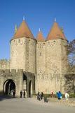 Die verstärkte Stadt von Carcassonne Stockfotografie