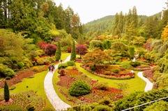 Die versunkenen Gärten an den Butchart Gärten. Lizenzfreie Stockfotografie