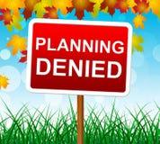 Die verweigerte Planung bedeutet Aufträge Ziel und Zielsetzung Lizenzfreie Stockfotografie