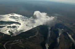 Die Victoriafälle - Luftaufnahme Stockbilder