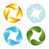 Die vier Elemente des Lebens vektor abbildung