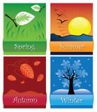 Die vier Jahreszeiten vektor abbildung