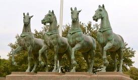 Die vier Pferde der Apocalypse Stockfotos
