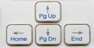 Die vier TastaturPfeiltasten Stockfotografie