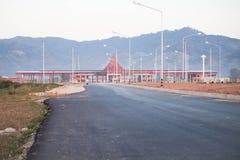 Die vierte ThaiâLao Freundschafts-Brücke gewölbt Stockfotos