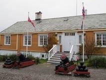 Die Viertel des Offiziers an Vardøhus-Festung, Norwegen stockfoto