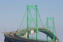 Die Vincent Thomas-Brücke im Tageslicht Lizenzfreies Stockbild