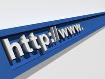 Die virtuelle Adresse Lizenzfreies Stockfoto