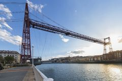 Die Vizcaya-Brücke lizenzfreies stockbild