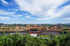 Die Vogelperspektive der Verbotenen Stadt, Peking, China Lizenzfreies Stockfoto