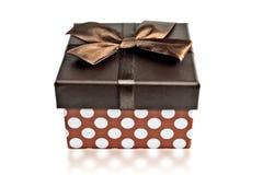 Die Vorderansicht über einen Kasten für Geschenke Stockfotos