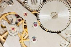 Die Vorrichtung der alten Borduhr. Makro lizenzfreies stockfoto