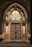 Die Vysehrad cathedrale Tür Lizenzfreies Stockfoto