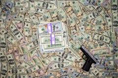 Die Währungserträge der Kriminalität Stockfotografie