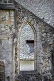 Die Wände der ehemaligen gotischen Kathedrale Stockbild