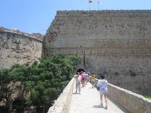 Die Wände der mittelalterlichen türkischen Festung in Limassol, Nord-Zypern Gestandene Hälfte des Jahrtausends und kann heute ver lizenzfreies stockfoto