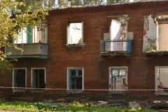 Die Wände des alten Hauses Stockbild