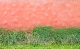 Die Wände und das Gras im Hintergrund Stockfoto