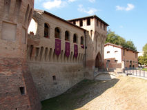 Die Wände von Castellarano Stockbild