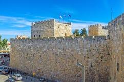 Die Wände von Davids Festung Lizenzfreie Stockfotos