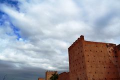 Die Wände von Marrakesch stockfoto