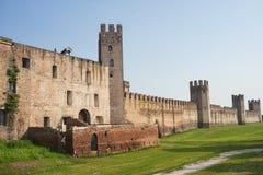 Die Wände von Montagnana (Padua, Italien) Stockbild