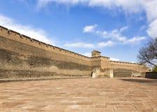 Die Wände von Pingyao in China lizenzfreie stockbilder