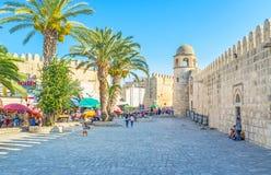 Die Wände von Sousse Stockbild