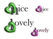 Die Wörter groß und wunderbar mit Herzen vektor abbildung