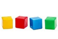 Die Würfel der helle farbige Kinder, lokalisiert auf weißem Hintergrund Stockfoto
