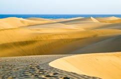 Die Wüste in Gran Canaria Stockfotos