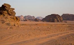 Die Wüste am Morgen stockbilder