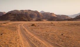 Die Wüste am Morgen stockfoto