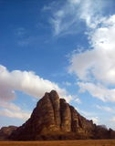 Die Wüste von Wadi Rum Jordan Lizenzfreie Stockfotos
