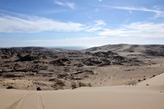 Die Wüstenhügel um De Santa Clara, Sonora, Mexiko EL Golfo Stockfotografie