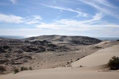 Die Wüstenhügel um De Santa Clara, Sonora, Mexiko EL Golfo Lizenzfreie Stockfotos