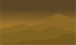 Die Wüstenlandschaft lizenzfreie abbildung