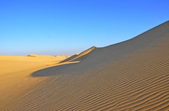 Die Wüstenlandschaft in Giseh, Ägypten Lizenzfreies Stockbild