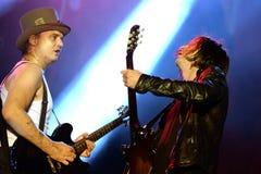 Die Wüstlinge (englischer Rockband) führt an FLUNKEREI Festival durch Lizenzfreies Stockfoto