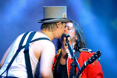 Die Wüstlinge (englischer Rockband) führt an FLUNKEREI Festival durch Lizenzfreie Stockfotografie