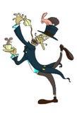 Die wütenden Teeparty des Hutmachers Lizenzfreies Stockfoto