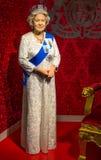 Die Wachsfigur der Königin Elizabeth II in Madame Tussauds Singapore lizenzfreies stockbild