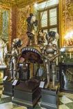 Die Waffenkammer-Kammer Royal Palaces in Turin stockfotos