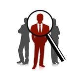 Die Wahl des Kandidaten, das Geschäftskonzept Stockfotografie