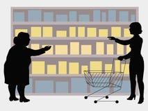 Die Wahl von Waren durch den Käufer abhängig von dem Standort von Th Stockfotografie