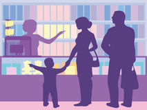 Die Wahl von Waren durch den Käufer abhängig von der Platzierung auf t Stockbild