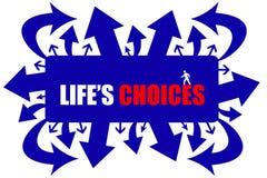 Die Wahlen des Lebens Stockbild